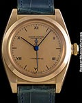 ROLEX BUBBLE BACK 3131 14K ROSE GOLD ROSE VERGA DIAL