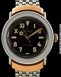 ROLEX BUBBLE BACK 3536 BLACK CALIFORNIA DIAL ROSE GOLD HOODED LUGS