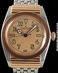 ROLEX BUBBLE BACK 3595 CALIFORNIA DIAL 18K ROSE & STEEL FANCY HOODED CASE