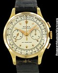 ROLEX VINTAGE CHRONOGRAPH 3834R 18K NEW OLD STOCK 1940s