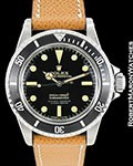 ROLEX 5512 SUBMARINER BLACK DIAL STAINLESS STEEL 1966