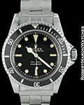 ROLEX VINTAGE SUBMARINER 5513 POINTED CROWN GUARDS GILT 1962