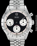 ROLEX VINTAGE DAYTONA 6239 PAUL NEWMAN CHRONOGRAPH BOX PAPERS ca 1969