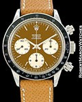 ROLEX VINTAGE DAYTONA 6240 CHRONOGRAPH DEEP TROPICAL SIGMA DIAL 1967