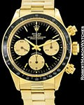 ROLEX VINTAGE DAYTONA 6263 18K UNPOLISHED CHRONOGRAPH BOX & PAPERS 1987