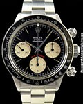 ROLEX 6263 BIG RED DAYTONA BLACK SIGMA DIAL STEEL BOX & PAPERS