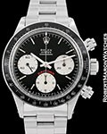 ROLEX VINTAGE DAYTONA 6263 BLACK BIG RED SIGMA DIAL JAPANESE PAPERS 1978