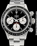 ROLEX VINTAGE RED DAYTONA BLACK DIAL 6263 STEEL AUTOMATIC