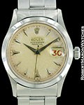 ROLEX VINTAGE OYSTER PERPETUAL STEEL REF 6518 BOX PAPERS 1956