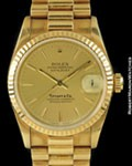 ROLEX DATEJUST 6827 PRESIDENT TIFFANY & CO AUTOMATIC 18K