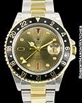 ROLEX VINTAGE GMT MASTER II 18K STEEL AUTOMATIC 16713 SERTI DIAL
