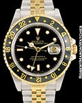 ROLEX VINTAGE GMT MASTER II UNPOLISHED NEW 18K STEEL AUTOMATIC 16713 1991