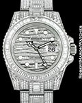 ROLEX GMT II �ICE� 18K WHITE GOLD 116769TBR PAVE DIAMOND CASE NEW