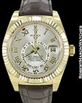 ROLEX SKYDWELLER 18K GOLD OYSTER PERPETUAL
