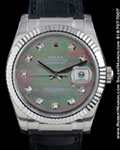 ROLEX 116139 DATEJUST MOTHER OF PEARL DIAMONDS 18K