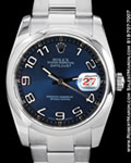 ROLEX 116200 DATEJUST BLUE CONCENTRIC STEEL