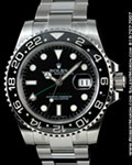 ROLEX GMT-MASTER II 116710 STAINLESS STEEL CERAMIC GREEN OYSTER