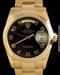 ROLEX 118205 DAY DATE PRESIDENT 18K ROSE