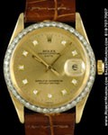 ROLEX 1500 DATE DIAMONDS 14K