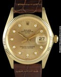 ROLEX 1503 DATE DIAMONDS 14K