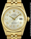 ROLEX 1601 DATEJUST DIAMONDS 18K