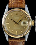 ROLEX 1601 DATEJUST 18K ROSE