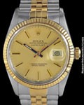 ROLEX 16013 DATEJUST STEEL 18K