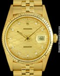 ROLEX 16018 DATEJUST CHEVY JUBILEE DIAMOND 18K