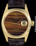 ROLEX 16018 DATEJUST TIGER'S EYE 18K