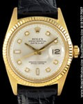 ROLEX 1601 DATEJUST OYSTER PERPETUAL DIAMONDS 18K