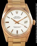 ROLEX 1601 DATEJUST OYSTER PERPETUAL 18K ROSE