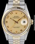 ROLEX 16233 DATEJUST GOLD STEEL