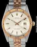 ROLEX 1625 DATEJUST TURN-O-GRAPH STEEL ROSE GOLD