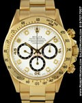 ROLEX 16528 DAYTONA CHRONOGRAPH DIAMONDS 18K