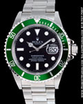 ROLEX GREEN ANNIVERSARY SUBMARINER 16610 LV