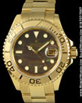 ROLEX OYSTER PERPETUAL 166288 YACHTMASTER 18K YELLOW GOLD
