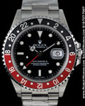 ROLEX GMT MASTER II 16710 STEEL RED/BLACK BEZEL