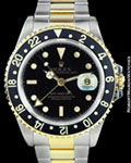 ROLEX 16713 GMT MASTER II STEEL GOLD
