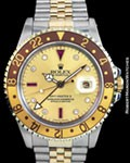 ROLEX 16713 GMT MASTER II RUBIES DIAMONDS STEEL 18K