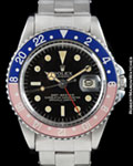 ROLEX 1675 GMT-MASTER GILT UNDERLINE STEEL