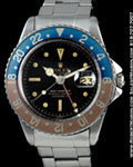 ROLEX VINTAGE GMT-MASTER STAINLESS STEEL GILT DIAL 1675