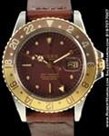 ROLEX VINTAGE GMT MASTER 1675 GOLD/STEEL AUTO 1970
