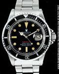 "ROLEX VINTAGE SUBMARINER 1680 RED ""METERS FIRST"" DIAL"