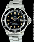 ROLEX VINTAGE RED SUBMARINER 1680 STEEL 1972