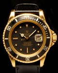 ROLEX VINTAGE 18K SUBMARINER 1680 BLACK DIAL