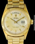 ROLEX 1803 DAY DATE PRESIDENT 18K BOX & PAPERS