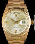 ROLEX 1803 DAY DATE PRESIDENT DIAMONDS 18K ROSE