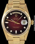 ROLEX 18038 DAY DATE PRESIDENT DIAMONDS 18K