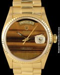 ROLEX 18038 DAY DATE PRESIDENT TIGER EYE 18K