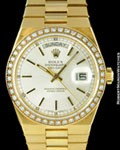 ROLEX 19018 OYSTER QUARTZ DAY DATE PRESIDENT DIAMONDS 18K